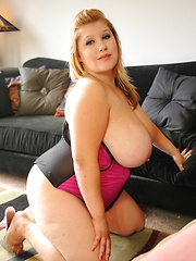 Big heavy hanging tits swing as BBW gets fucked