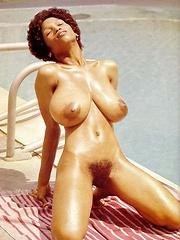 Sylvia McFarland showing her big natural breasts