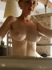 Helene Trobec thick big natural boobs spread nude