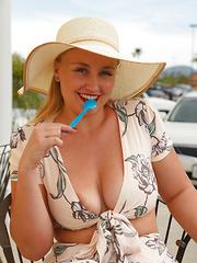Harley Woodburn natural boobs fit body cowgirl cumshot