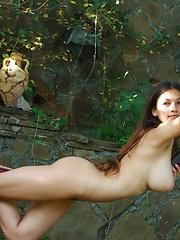 Big-breasted teen model Sofi