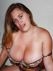 Silvia Calibresa in another hot photo session showing her monster tits!