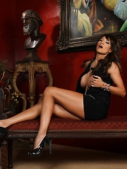 If you like legs, you're going to love this stunning set with Kristi Curiali as she strips out of her cocktail dress for you.