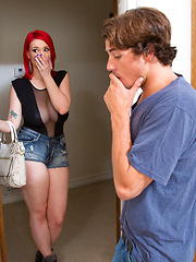 Siri is horny and her friends brother is around so she fucks him to satisfy her needs.