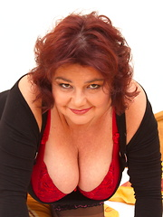Big breasted chubby mature lady and her younger lover