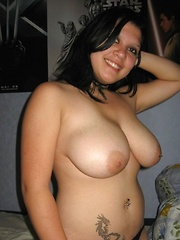 Home sex of a big titty amateur babe fucking with tits swinging