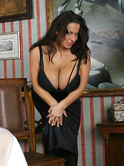 Aneta in sexy dress and Pantyhose