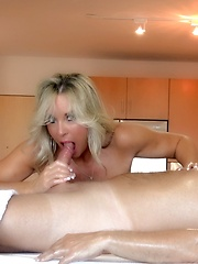 Wifey Gives Topless Blowjob And Handjob