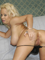 Blonde bombshell rides cock like a pony!